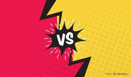 Versus Faceoff Comic Slide Vector Design