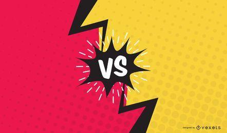 Versus Faceoff Comic Slide Vector Design