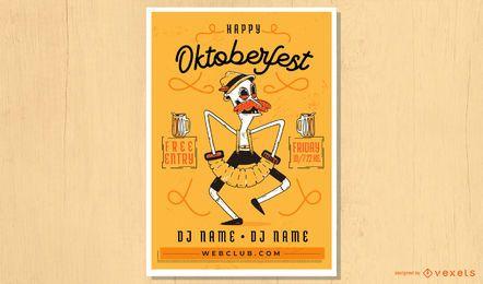 Oktoberfest concertina homem cartaz design