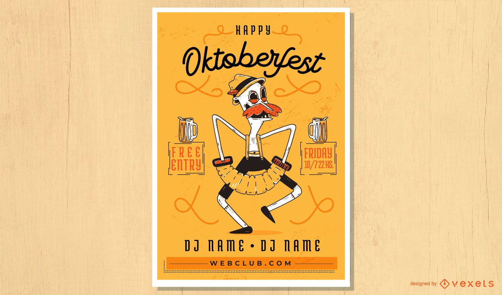 Oktoberfest concertina man poster design