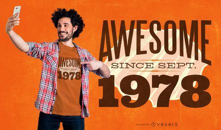 Impresionante diseño de camiseta de cotización de año