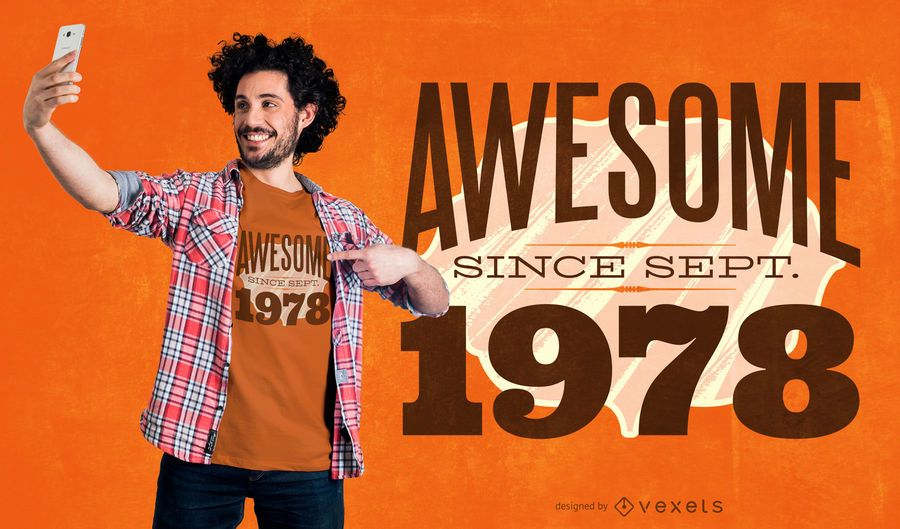 Awesome year quote t-shirt design