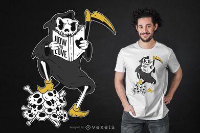 Lustiger T-Shirt Entwurf des Sensenmanns