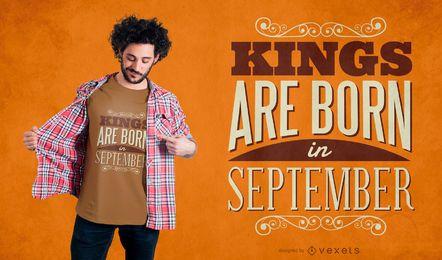 Design de t-shirt de reis de setembro