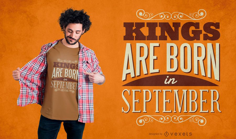 September kings t-shirt design