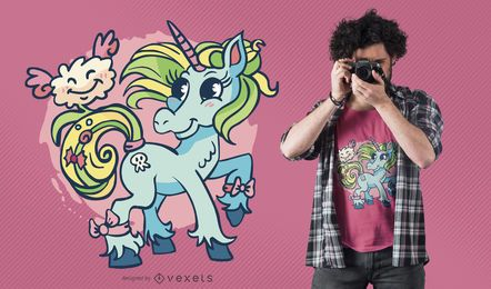 Unicorn cloud t-shirt design