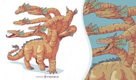 Ilustração de Hydra de criatura mítica