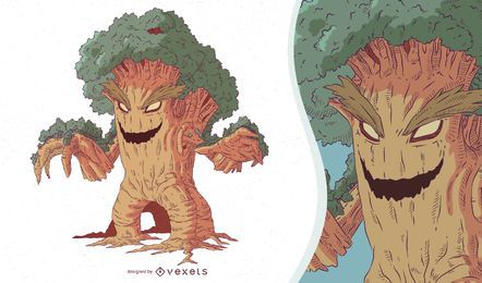 Monster Tree Illustration