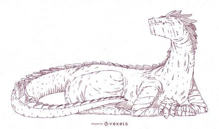 Dragon Stroke Illustration Design