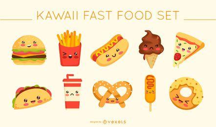 Coleção de Fast Food Kawaii