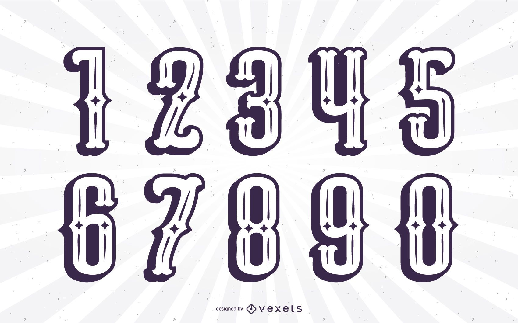 Mexican Style Silhouette Alphabet Number Set
