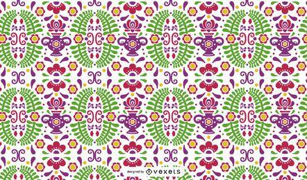 Diseño de patrón de estilo mexicano
