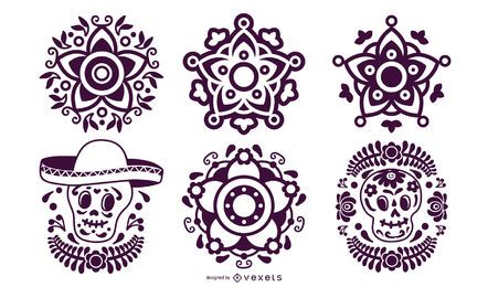 Mexikanisches Stencil Element Pack