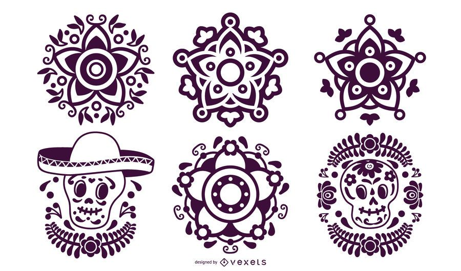 Mexican Stencil Element Pack