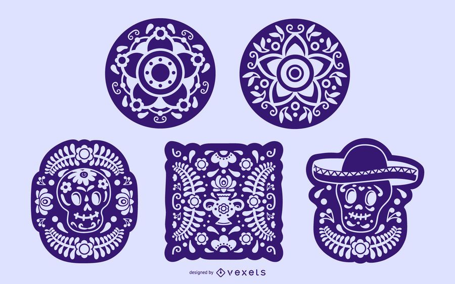 Mexican Stencil Elements Collection