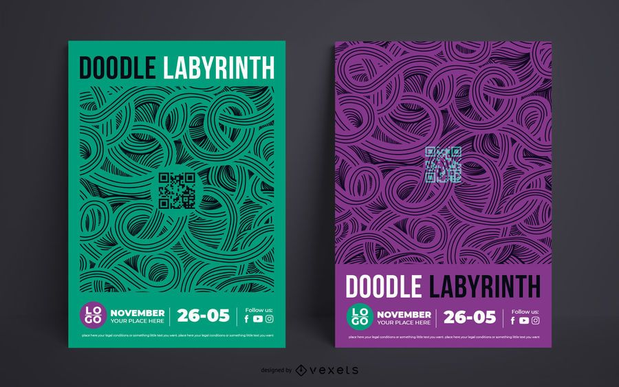 Event Double Poster Template Design