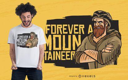 Para sempre um projeto do t-shirt do alpinista