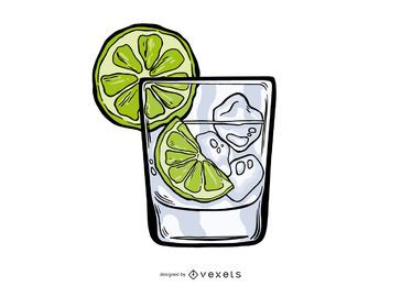 Gin Tonic Illustrationsdesign