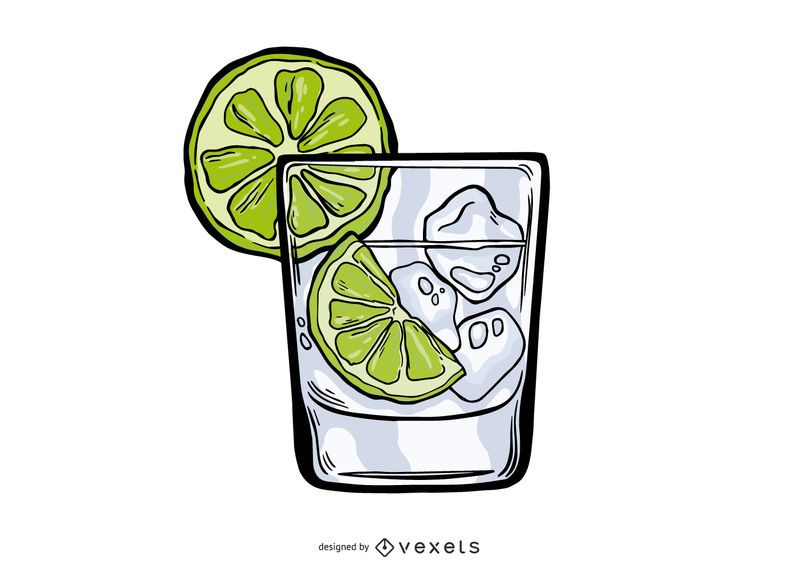 Gin Tonic Illustration Design