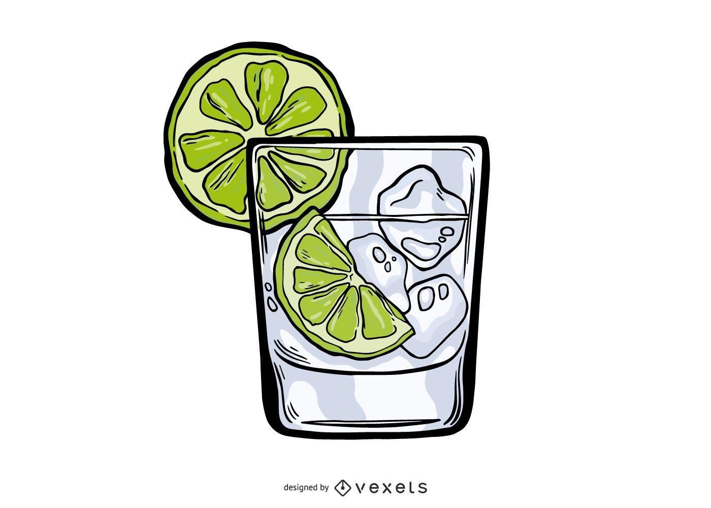 Design de ilustração de Gin Tonic