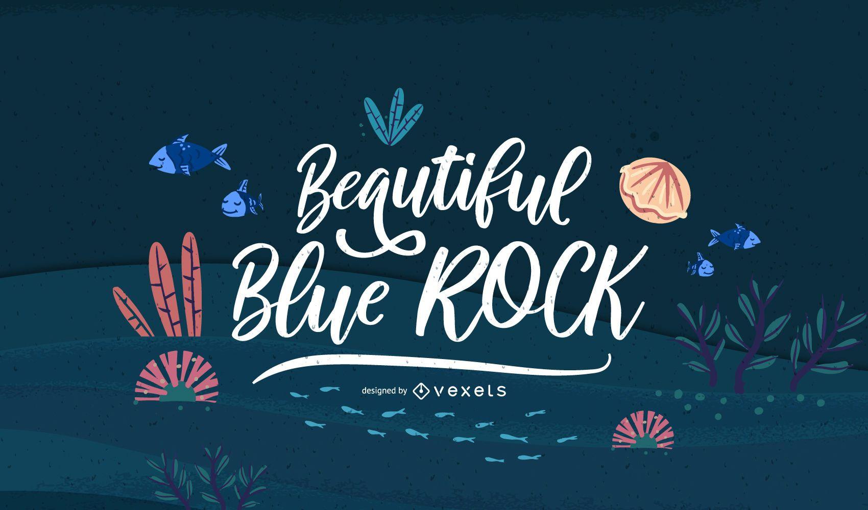 Diseño de banner de cita de letras oceánicas