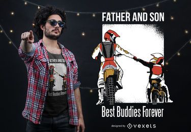 Father Son Best Buddies T-shirt Design