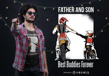 Vater Sohn Best Buddies T-Shirt Design