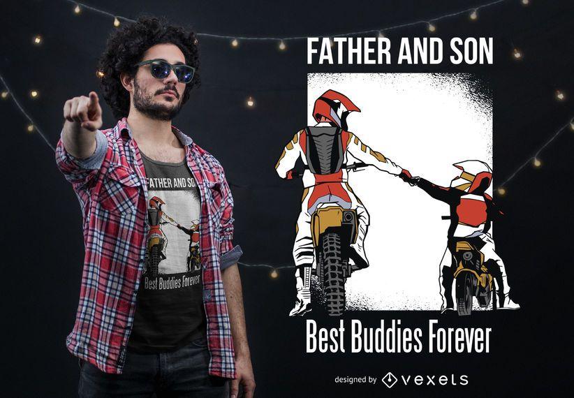 Design do t-shirt dos melhores amigos do filho do pai