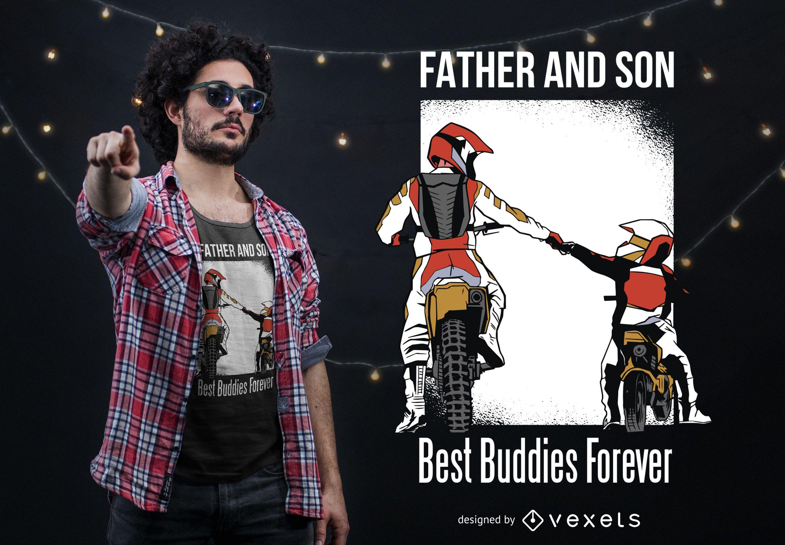 Design de camisetas para pais e filhos com os melhores amigos