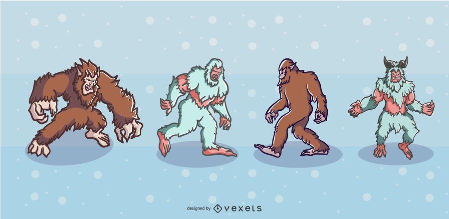 Folklore Creatures Illustration Set