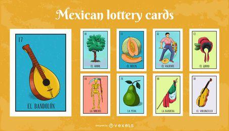 Pacote de cartões de loteria mexicana # 2