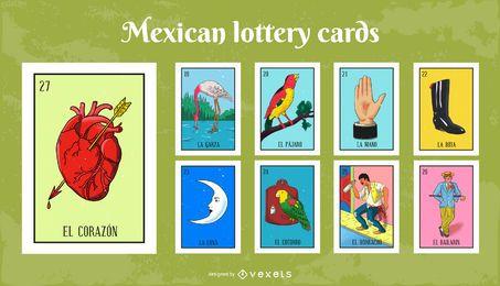 Pacote de cartões de loteria mexicana # 3