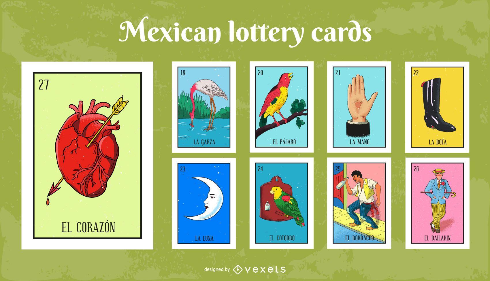 Paquete de Tarjetas de Lotería Mexicana # 3