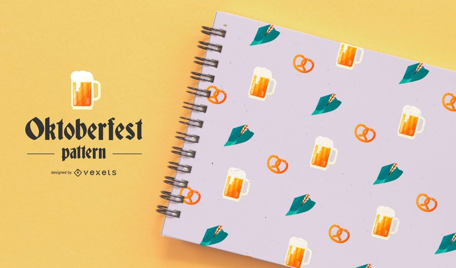 Diseño de Vector de patrón Oktoberfest