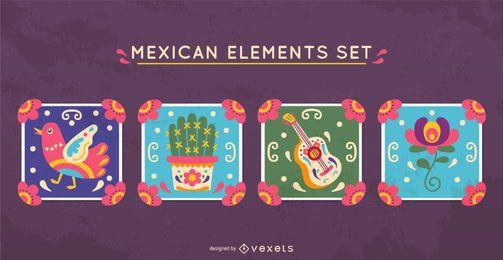 Conjunto de elementos mexicanos