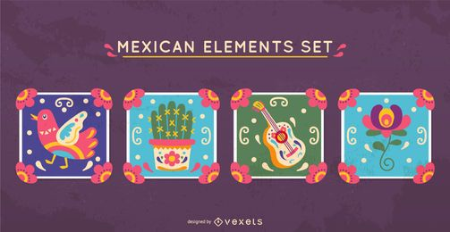 Mexican elements set