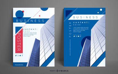 Geschäftsgebäude-Plakat-Set