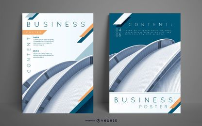 Bearbeitbare Business Poster Set