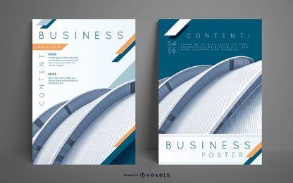 Conjunto de pôsteres editáveis de negócios