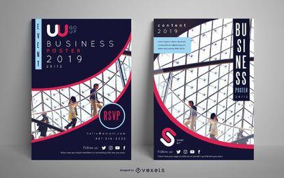 Conjunto de cartaz de pessoas de cartaz de negócios