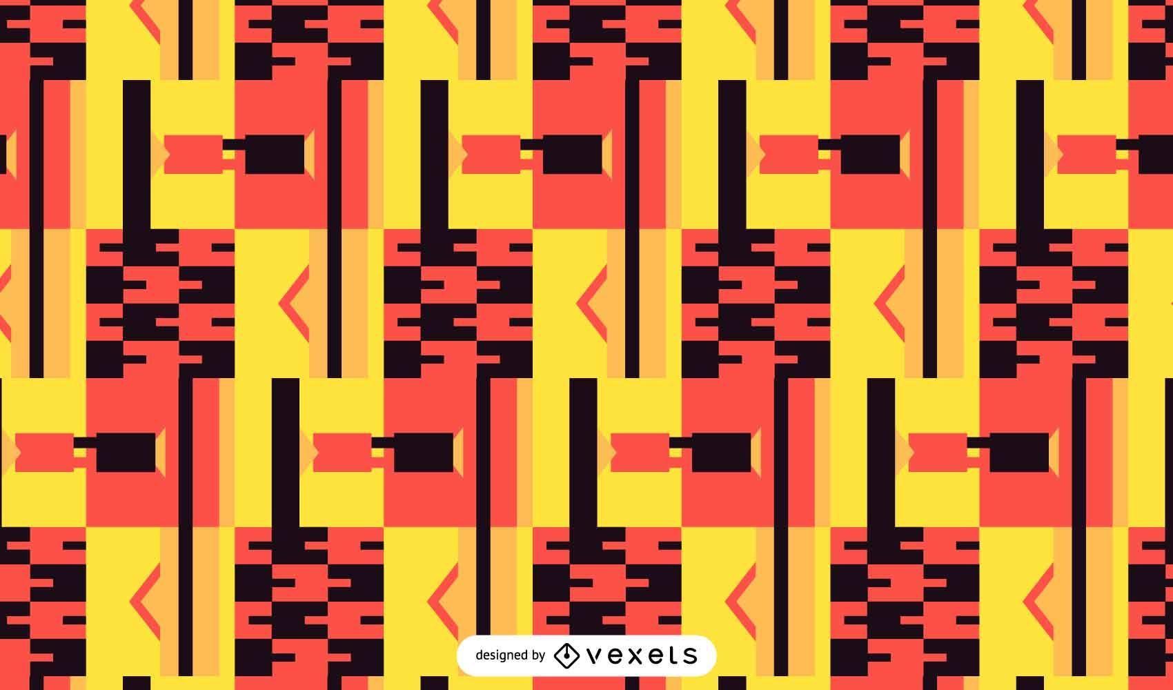 Diseño de patrón Kente