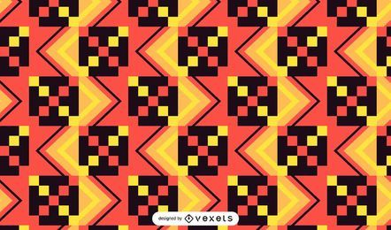 Desenho colorido padrão Kente