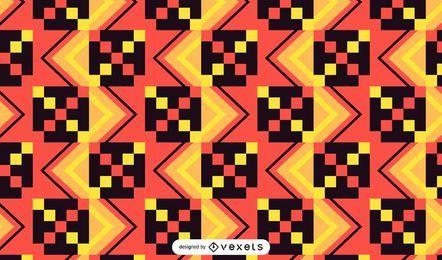 Kente padrão de design colorido