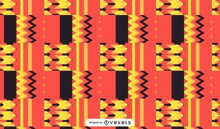 Diseño de kente de patrones sin fisuras