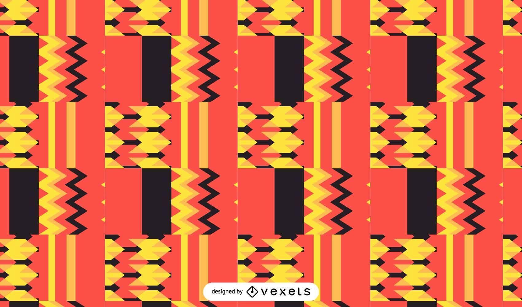 Diseño kente de patrones sin fisuras