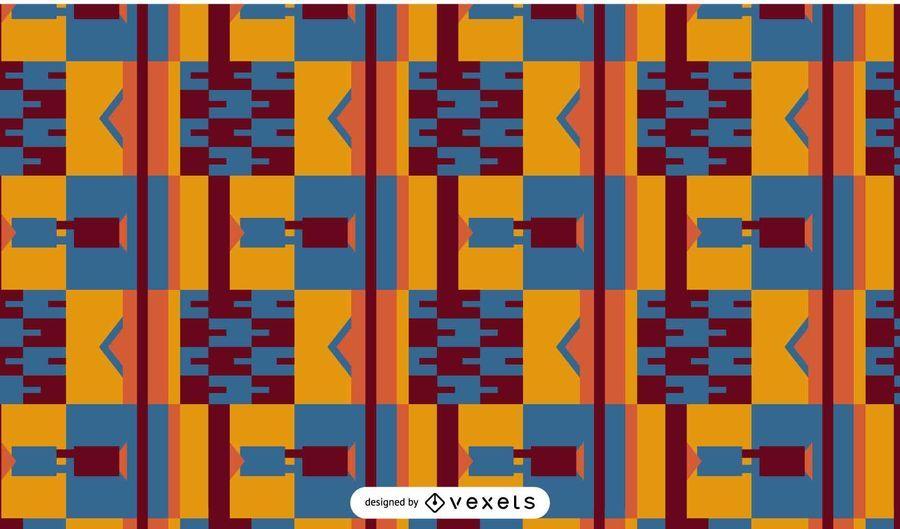 Padrão abstrato design kente
