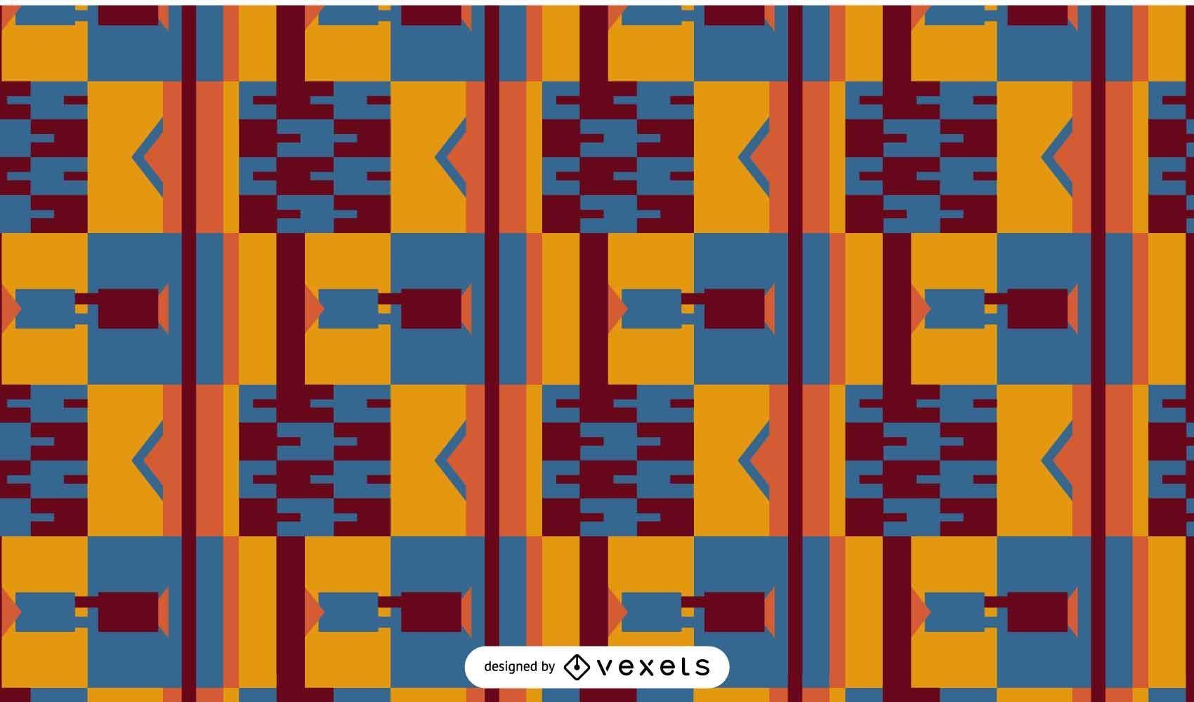 Diseño de patrón abstracto kente