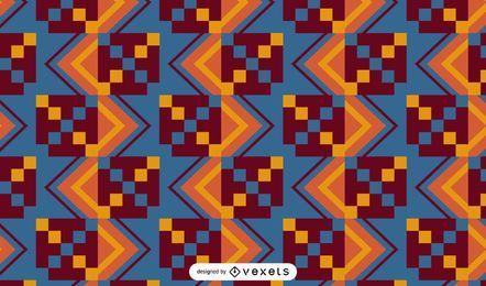 Desenho de padrão de tecido Kente