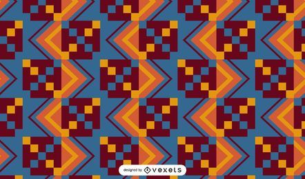 Kente cloth pattern design