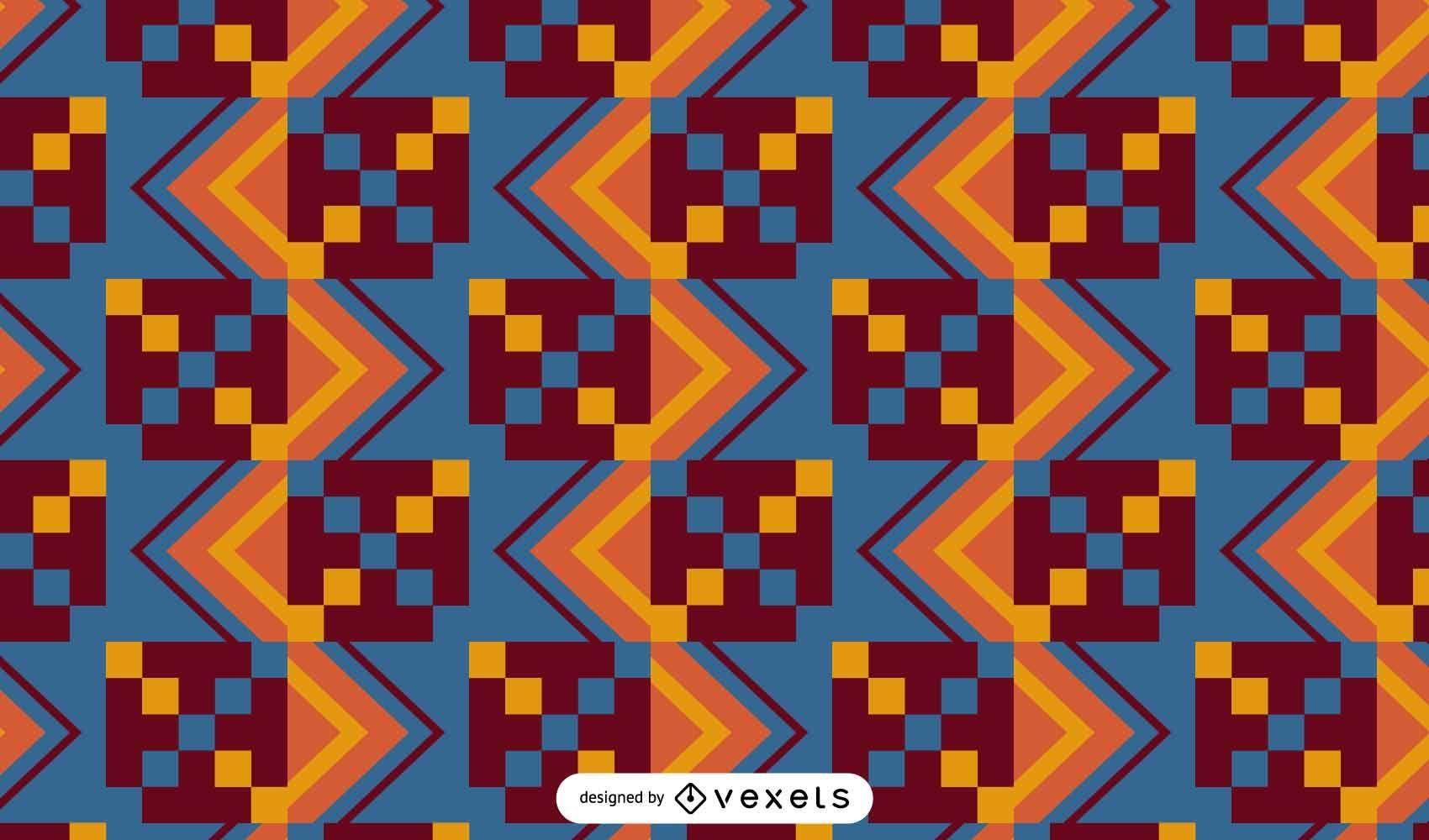 Kente cloth pattern design